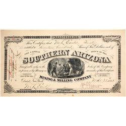 Southern Arizona Mining & Milling Company Stock  #77019