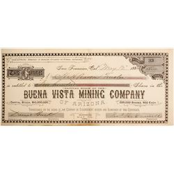 Buena Vista Mining Company of Arizona Stock  #77028