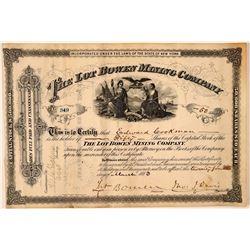 Lot Bowen Mining Company Stock Certificate  #107753