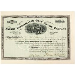 Flores Consolidated Gold Mining Company Stock  #81656