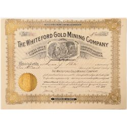 Whiteford Gold Mining Company Stock Certificate  #100909