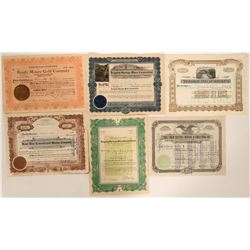 Yuma and Gila County Mining Certificate Collection  #105962