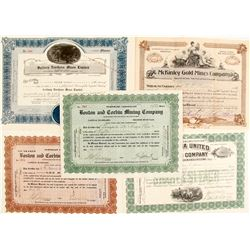 Gold Mining Stock Certs. (5)   #76202