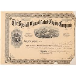 "Russell Consolidated Copper Co. Stock ""Proof""  #100908"