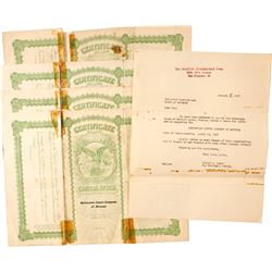 Stock Certs. (4) Greenstone Copper Company of Arizona  #83534