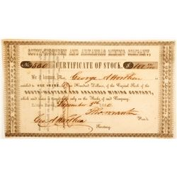 South-Western and Arkansas Mining Company Stock Certificate  #60265