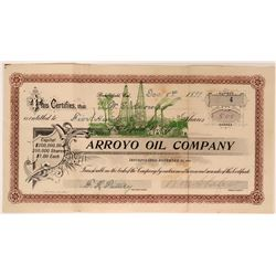 Arroyo Oil Stock, Bakersfield, Cal. 1899 Issued to W.E. Knowles  #110056