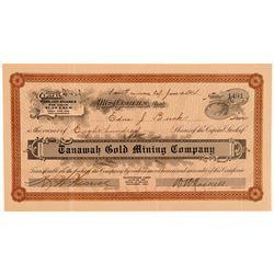 Tanawah Gold Mining Co. Stock, Mono County, Cal. 1914  #108182