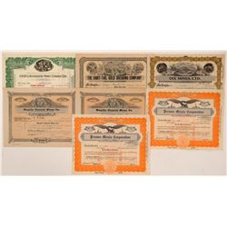 Butte County Mining Stock Certificates  #107249