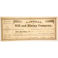 Lamoille Mill and Mining Company Stock  #86048