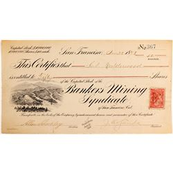 Bank Mining Syndicate of San Francisco, CA  #81849