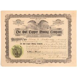 Owl Copper Mining Company Stock Certificate  #107279