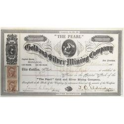 """The Pearl"" Gold and Silver Mining Company Stock  #72024"