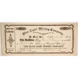 Blue Light Mining Company Stock  #86172