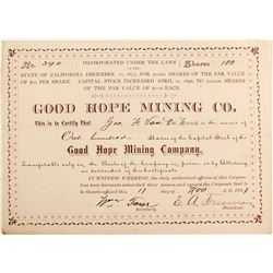 Good Hope Mining Co stock  #81854