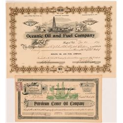 Two California Petroleum Stock Certificates  #104364