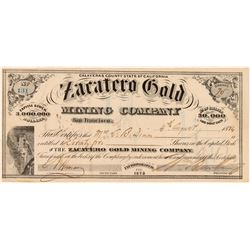 Zacatero Gold Mining Company  #100420