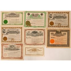 8 Black Hawk, Colorado Mining Stock Certificates  #107673
