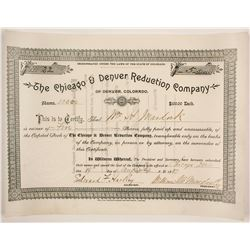 Chicago & Denver Reduction Company Stock  #86732