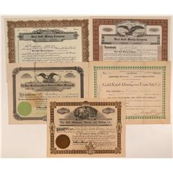 Five Different El Paso County, Colorado Mining Stocks  #107675