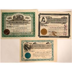 Eldora District, Boulder County Mining Stock Certificates  #109087