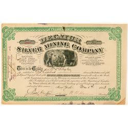 Decatur Silver Mining Company Stock Certificate  #100940