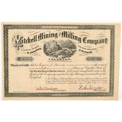 Mitchell Mining & Milling Company Stock Certificate  #104453