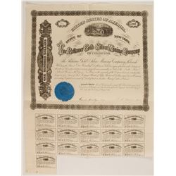 Reliance Gold and Silver Mining Company of Colorado Bond  #86035