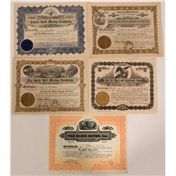Gold Hill District, Boulder County Mining Certificate Group  #109089