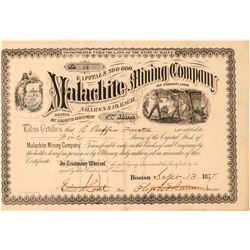 Malachite Mining Co. of Colorado Stock Certificate  #101489