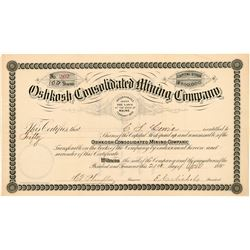 Oshkosh Consolidated Mining Co. Stock Certificate  #104451