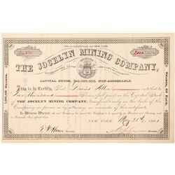 Jocelyn Mining Co. Stock Certificate  #91551