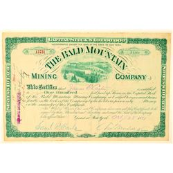 Bald Mountain Mining Company Stock Certificate  #91572