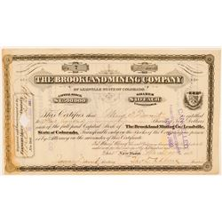 Brookland Mining Co. of Leadville Stock Certificate  #91620