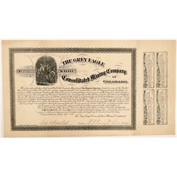 Grey Eagle Consolidated Mining Company Bond  #104460
