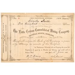 Little Corinne Consolidated Mining Co. Stock Certificate  #104449