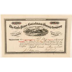 Little Prince Consolidated Mining Co. Stock Certificate  #91871
