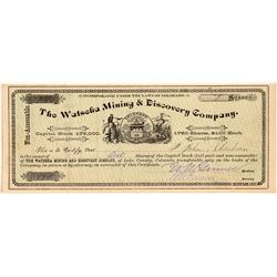 Watseka Mining & Discovery Company Stock Certificate  #104305