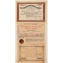 Three Ophir, Colorado Mining Stock Certificates  #107680