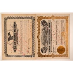 Polar Star Consolidated Mines Co. Stock Certificates, No. 1  #107688