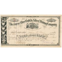 Horse Shoe Gold & Silver Mining Co. Stock Certificate  #91735