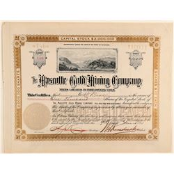 Mascotte Gold Mining Company Stock Certificate  #91800