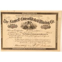 Farwell Consolidated Mining Company Stock Certificate  #100869