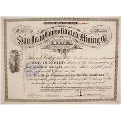 San Juan Consolidated Mining Company Stock  #87946