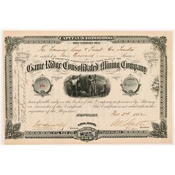 Game Ridge Consolidated Mining Company Stock Certificate  #104270