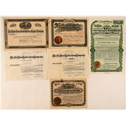 Six Salida, Colorado Mining Stock Certificates  #107666