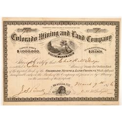 Colorado Mining & Land Company Stock Certificate  #104469