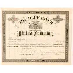 Blue River Mining Co. Stock Certificate  #91558