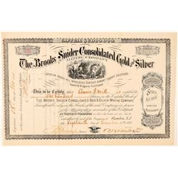 Brooks Snider Consolidated Gold & Silver Mining Co. Stock Certificate  #91569