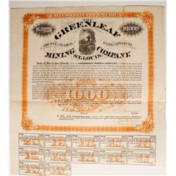 Greenleaf Mining Company Bond  #89428